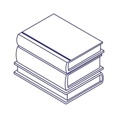stack of books icon over white background, flat design, vector illustration