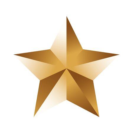 isometric star icon over white background, colorful design, vector illustration Ilustracja