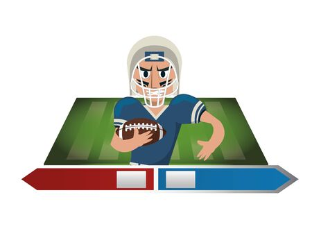 american football player character icon vector illustration design