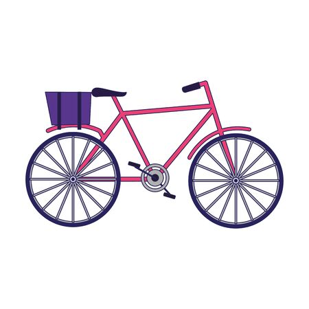 classic bicycle icon over white background, vector illustration Stock Illustratie
