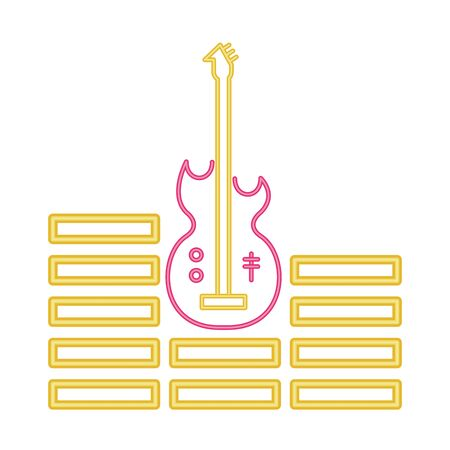 electric guitar musical isolated icon vector illustration design