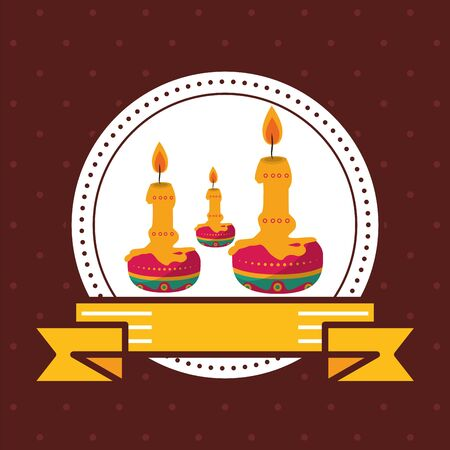 paraffin candles seal stamp icon vector illustration design Illustration