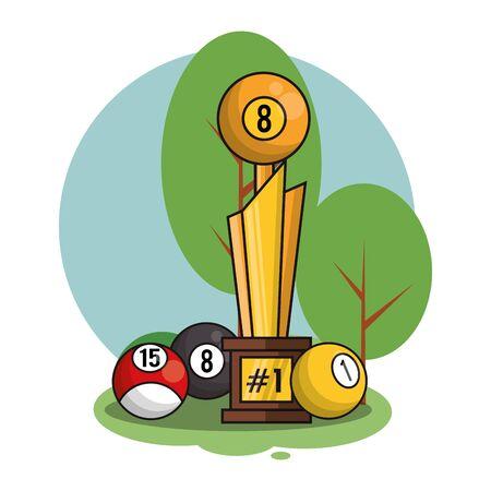 billiard sport equipment isolated icon vector illustration design