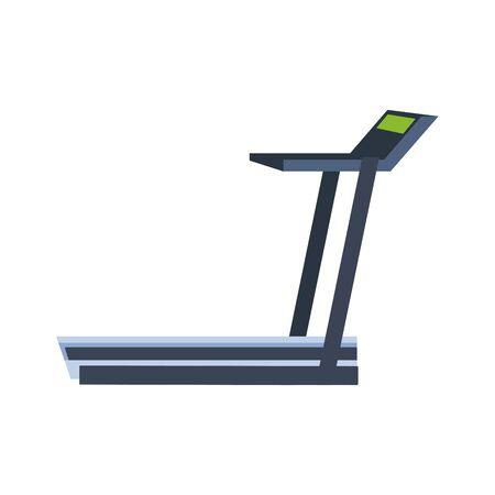 gym treadmill machine icon over white background, vector illustration