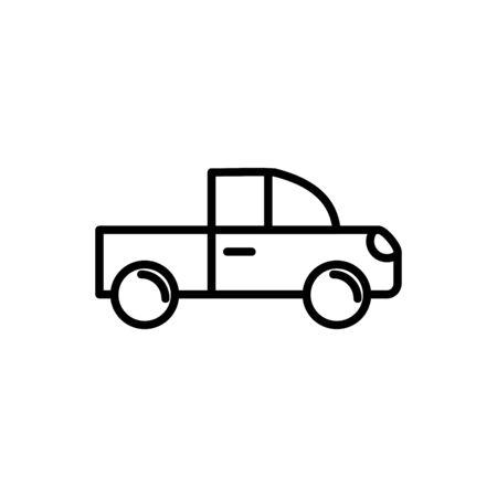 pickup truck transport linear design vector illustration