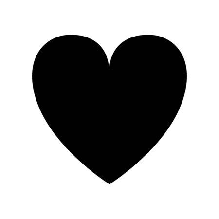 heart symbol icon over white background, flat design, vector illustration