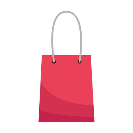 shopping bag icon over white background, flat design, vector illustration 스톡 콘텐츠 - 140836965