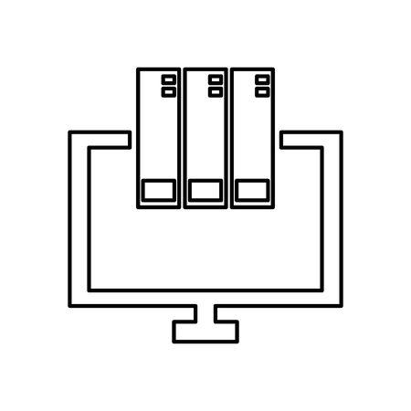 computer desktop display isolated icon vector illustration design Ilustrace