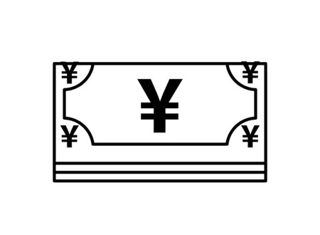 yens bills money isolated icon vector illustration design 일러스트