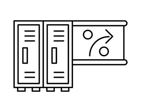 lockers metal store isolated icon vector illustration design Ilustracja