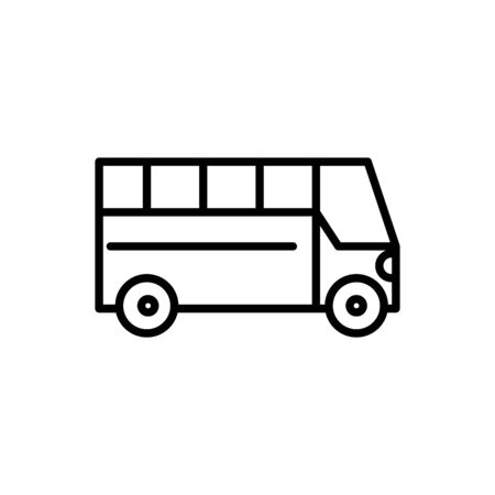 commercial bus transport linear design vector illustration