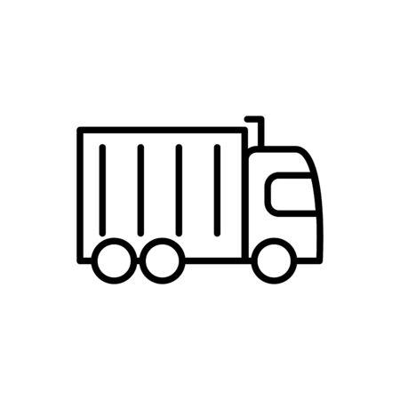 commercial truck transport linear design vector illustration 일러스트