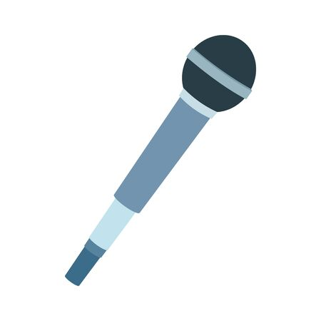 microphone icon over white background, vector illustration