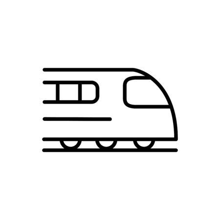 high speed train transport linear design vector illustration