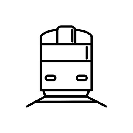train railway transport linear design vector illustration Ilustração