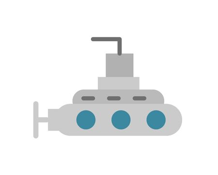 submarine military force isolated icon vector illustration design