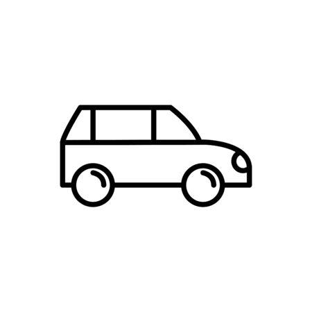 coupe car vehicle transport linear design vector illustration