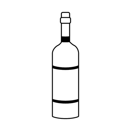 wine bottle icon over white background, vector illustration Ilustrace