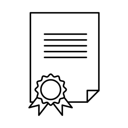 diploma with rosette icon vector illustration design
