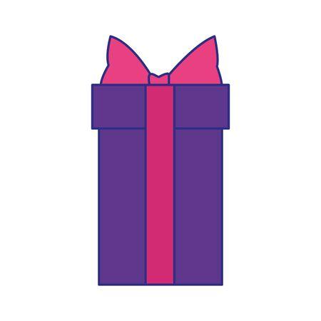 gift box icon over white background, vector illustration Ilustrace