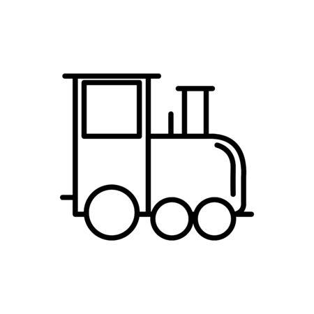 train wagon transport linear design vector illustration