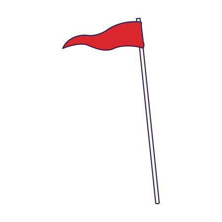 flag icon over white background, vector illustration