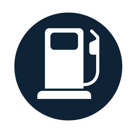 fuel station service flat icon vector illustration design 일러스트