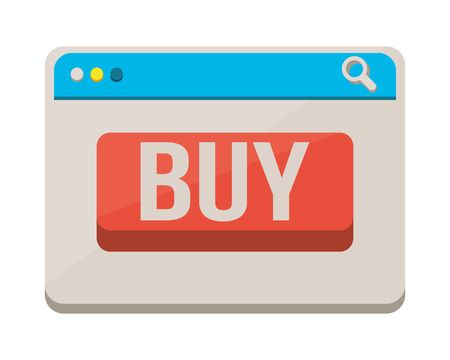 template webpage with buy button vector illustration design