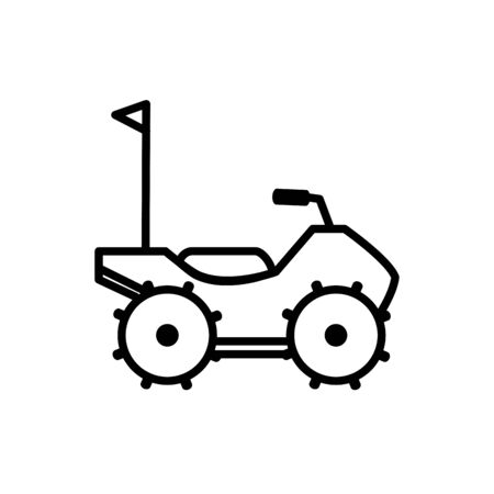 quad bike all terrain vehicle transport linear design vector illustration
