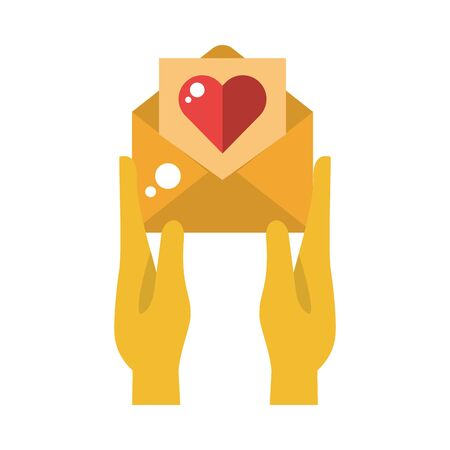 envelope mail with heart love vector illustration design