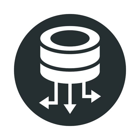 data center disks isolated icon vector illustration design
