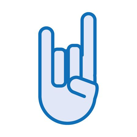 hand with rock and roll symbol vector illustration design Ilustrace