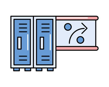 lockers metal store isolated icon vector illustration design