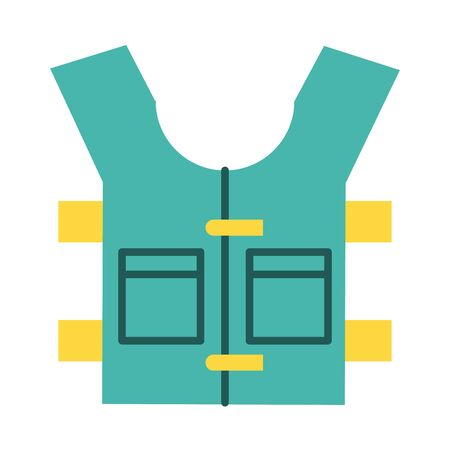 bulletproof vest accessory line and fill style icon vector illustration design