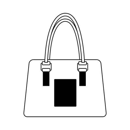 women handbag icon over white background, vector illustration