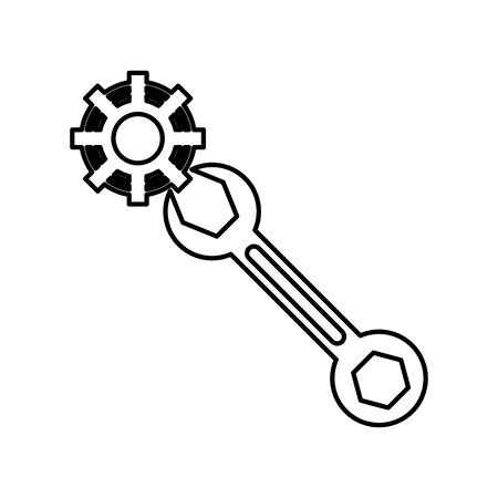 wrench key tool isolated icon vector illustration design