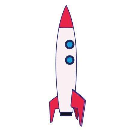 Rocket icon design, Spaceship aircraft start up shuttle technology and travel theme Vector illustration Ilustração Vetorial