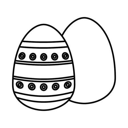pair easter eggs painted icon vector illustration design 版權商用圖片 - 140992789