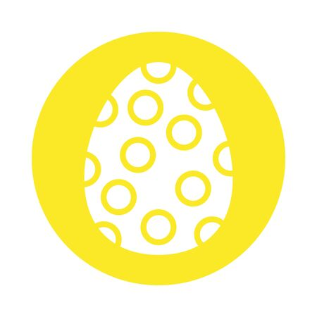 easter egg painted dotted block style vector illustration design Ilustração