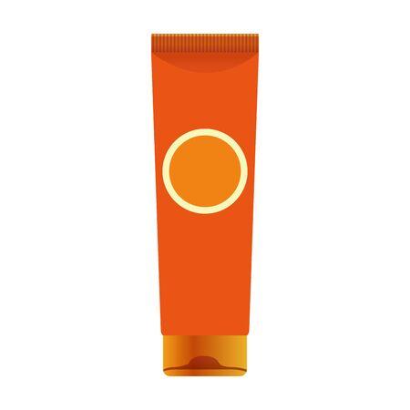 sunscreen cream bottle over white background, colorful design, vector illustration