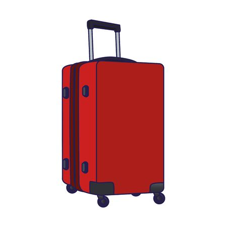 travel luggage icon over white background, vector illustration 일러스트