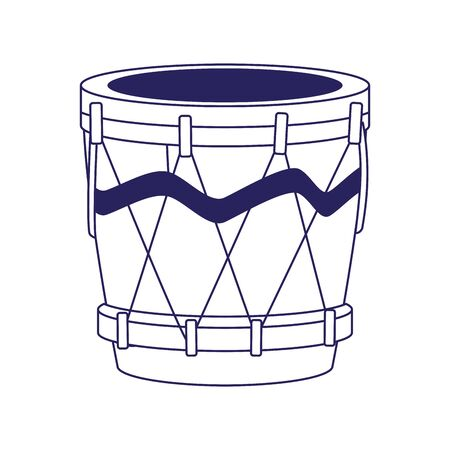drum instrument icon over white background, vector illustration Illusztráció