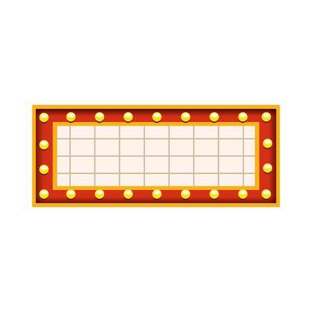 cinema blank billboard icon over white background, colorful design, vector illustration 일러스트