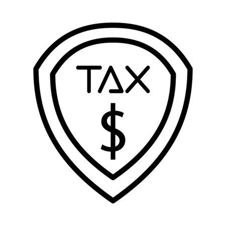 tax obligation shield isolated icon vector illustration design