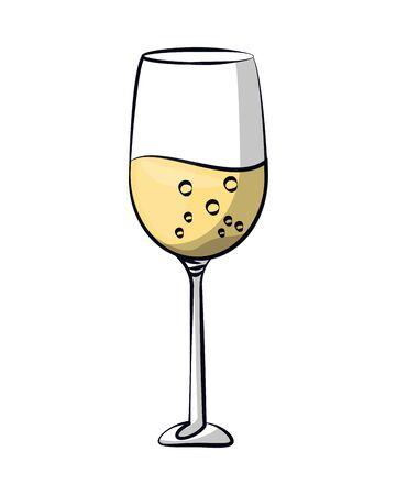 champagne cup drink isolated icon vector illustration design Ilustração Vetorial