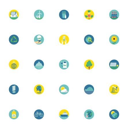 bundle of environment set icons vector illustration design
