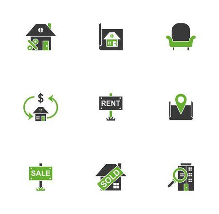 bundle of real estate set icons vector illustration design