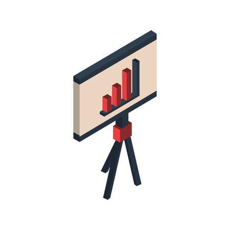 paperboard with statistics graphic icon vector illustration design Illustration