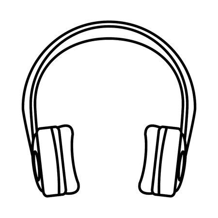 earphones audio device isolated icon vector illustration design Vektorové ilustrace