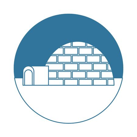 igloo ice construction isolated icon vector illustration design